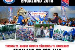 Velkommen til Engaland – fotballfest på Haugerud 21. august!